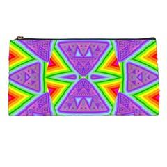 Trippy Rainbow Triangles Pencil Case by SaraThePixelPixie