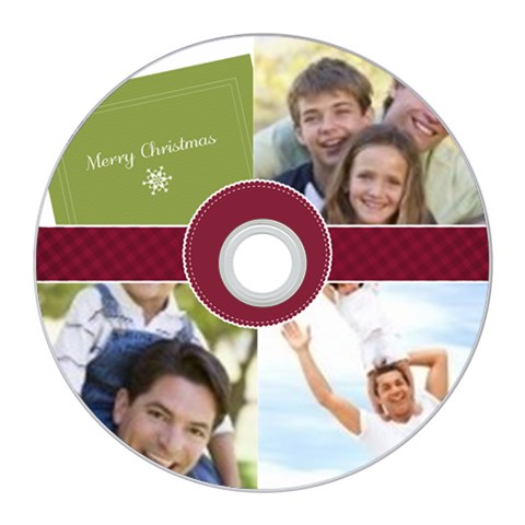 Merry Christmas By Joely   Cd Wall Clock   Gx0ane2b43c7   Www Artscow Com Front