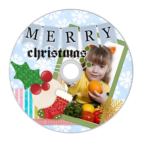 Merry Christmas By Joely   Cd Wall Clock   2e7dxpkvxrur   Www Artscow Com Front