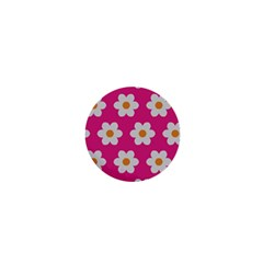 Daisies 1  Mini Button Magnet by SkylineDesigns