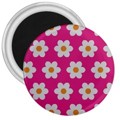 Daisies 3  Button Magnet by SkylineDesigns