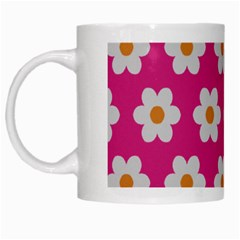 Daisies White Coffee Mug by SkylineDesigns