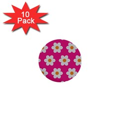 Daisies 1  Mini Button (10 Pack) by SkylineDesigns
