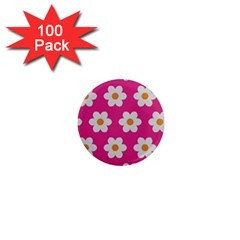 Daisies 1  Mini Button Magnet (100 Pack) by SkylineDesigns