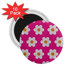 Daisies 2 25  Button Magnet (10 Pack)