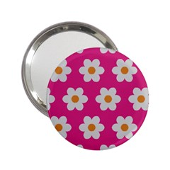 Daisies Handbag Mirror (2 25 ) by SkylineDesigns