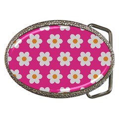 Daisies Belt Buckle (oval) by SkylineDesigns