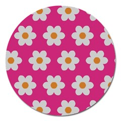 Daisies Magnet 5  (round) by SkylineDesigns
