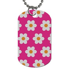 Daisies Dog Tag (two Sided)  by SkylineDesigns