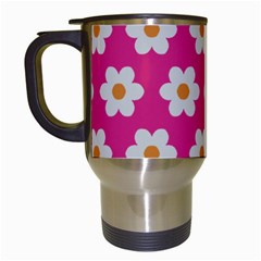 Daisies Travel Mug (white) by SkylineDesigns