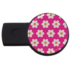 Daisies 4gb Usb Flash Drive (round) by SkylineDesigns
