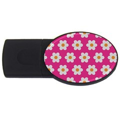 Daisies 4gb Usb Flash Drive (oval) by SkylineDesigns