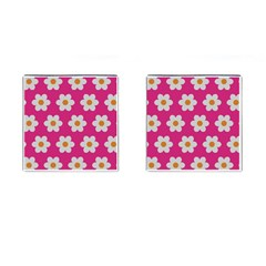 Daisies Cufflinks (square) by SkylineDesigns
