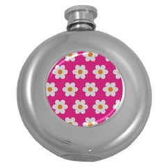 Daisies Hip Flask (round) by SkylineDesigns