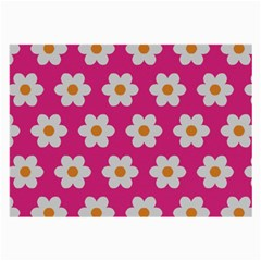 Daisies Glasses Cloth (large, Two Sided) by SkylineDesigns