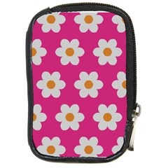 Daisies Compact Camera Leather Case by SkylineDesigns