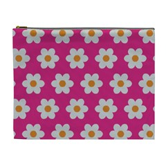 Daisies Cosmetic Bag (xl) by SkylineDesigns