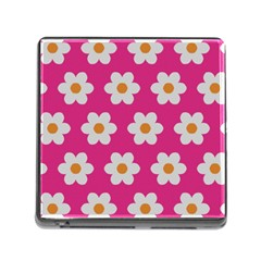 Daisies Memory Card Reader With Storage (square) by SkylineDesigns