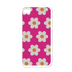 Daisies Apple Iphone 4 Case (white) by SkylineDesigns