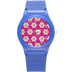 Daisies Plastic Sport Watch (small) by SkylineDesigns