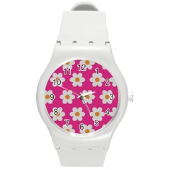 Daisies Plastic Sport Watch (medium) by SkylineDesigns