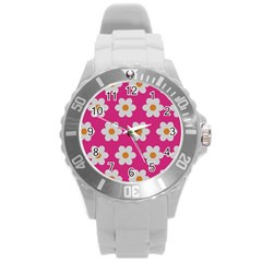Daisies Plastic Sport Watch (large) by SkylineDesigns