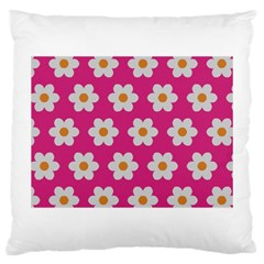Daisies Large Cushion Case (single Sided)  by SkylineDesigns
