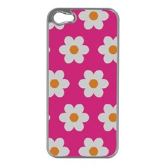 Daisies Apple Iphone 5 Case (silver) by SkylineDesigns