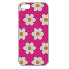 Daisies Apple Seamless Iphone 5 Case (clear) by SkylineDesigns