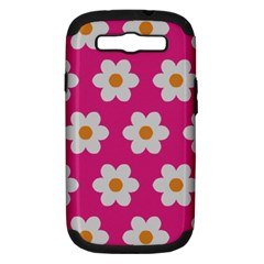 Daisies Samsung Galaxy S Iii Hardshell Case (pc+silicone) by SkylineDesigns