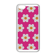 Daisies Apple Iphone 5c Seamless Case (white) by SkylineDesigns