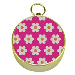 Daisies Gold Compass by SkylineDesigns
