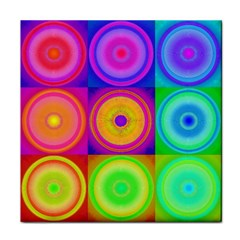 Retro Circles Ceramic Tile by SaraThePixelPixie