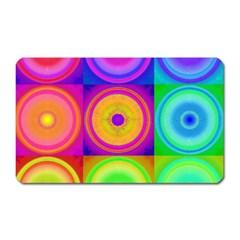 Retro Circles Magnet (rectangular) by SaraThePixelPixie