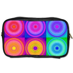 Retro Circles Travel Toiletry Bag (two Sides) by SaraThePixelPixie