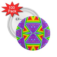 Trippy Rainbow Triangles 2 25  Button (100 Pack) by SaraThePixelPixie