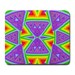 Trippy Rainbow Triangles Large Mouse Pad (Rectangle) by SaraThePixelPixie