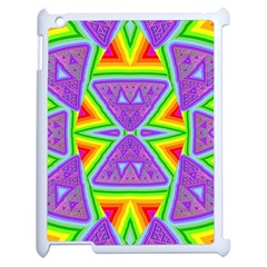 Trippy Rainbow Triangles Apple Ipad 2 Case (white) by SaraThePixelPixie