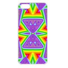 Trippy Rainbow Triangles Apple Iphone 5 Seamless Case (white) by SaraThePixelPixie