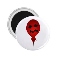 Evil Face Vector Illustration 2 25  Button Magnet by dflcprints