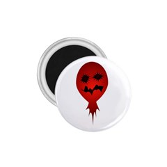 Evil Face Vector Illustration 1 75  Button Magnet by dflcprints