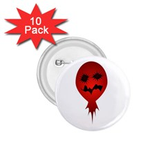 Evil Face Vector Illustration 1 75  Button (10 Pack) by dflcprints