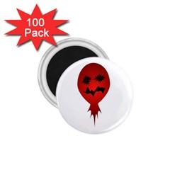 Evil Face Vector Illustration 1 75  Button Magnet (100 Pack) by dflcprints