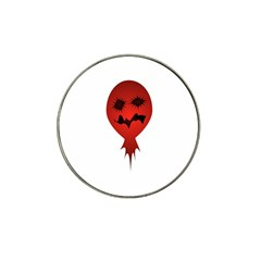 Evil Face Vector Illustration Golf Ball Marker (for Hat Clip) by dflcprints