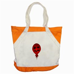 Evil Face Vector Illustration Accent Tote Bag by dflcprints