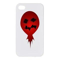 Evil Face Vector Illustration Apple Iphone 4/4s Hardshell Case by dflcprints