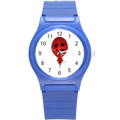 Evil Face Vector Illustration Plastic Sport Watch (small) by dflcprints
