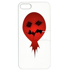 Evil Face Vector Illustration Apple Iphone 5 Hardshell Case With Stand by dflcprints