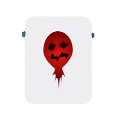 Evil Face Vector Illustration Apple Ipad Protective Sleeve by dflcprints