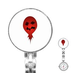Evil Face Vector Illustration Stainless Steel Nurses Watch by dflcprints